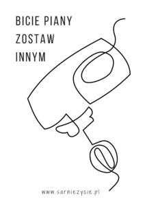 DIY plakat do druku - wzór mikser