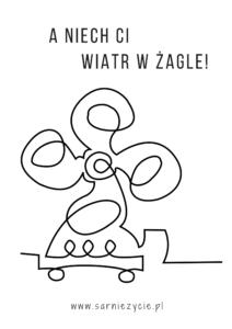 DIY plakat do druku - wzór wentylator