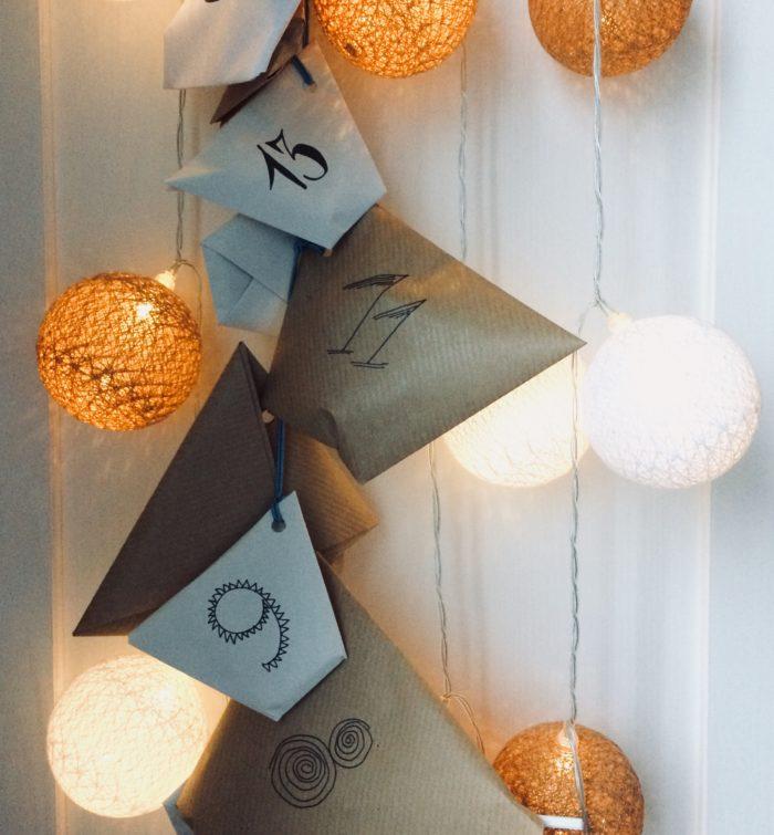 origami kalendarz adwentowy DIY