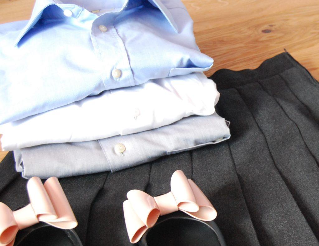 zakupy w lumpeksie spodnica i koszule