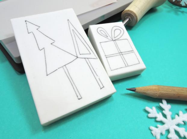 stemple DIY - krok 1: rysowanie wzoru