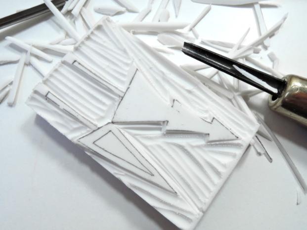 stemple DIY - krok 2: wycinanie wzoru