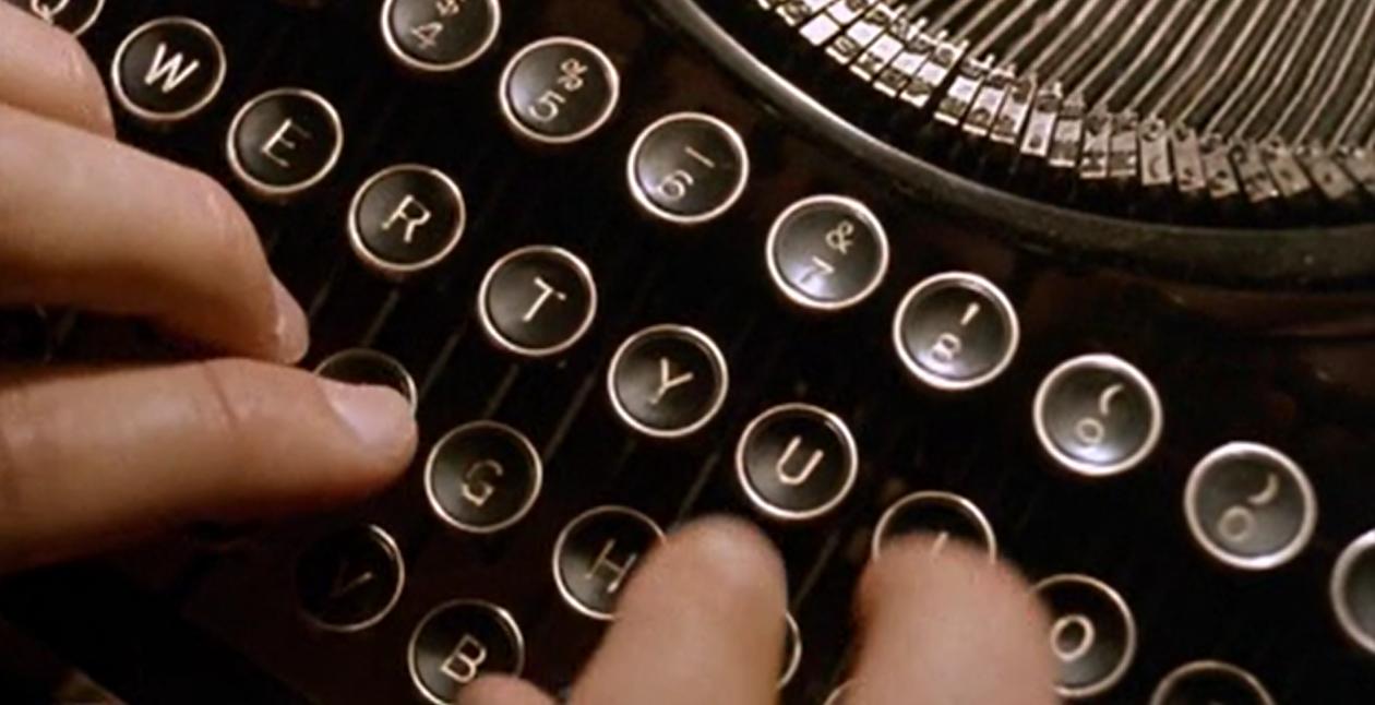 blokada twórcza maszyna do pisania
